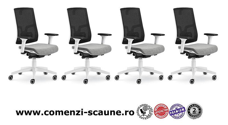Scaun ergonomic confortabil si relaxant-PURE WHITE MESH-1