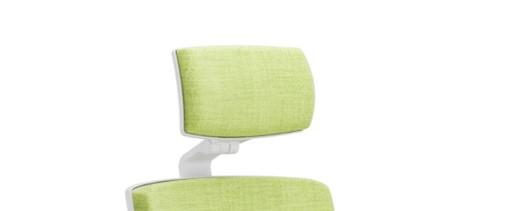 Scaun ergonomic confortabil si relaxant-PURE WHITE T PDH-tetieră
