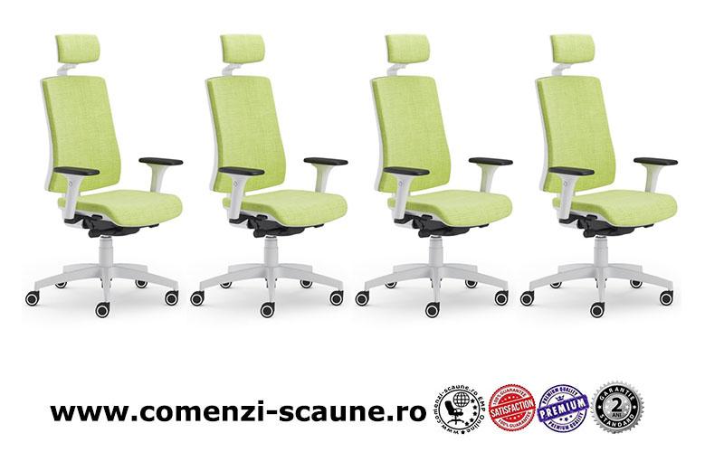 Scaun ergonomic confortabil si relaxant-PURE WHITE T PDH-1