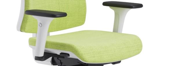 Scaun ergonomic confortabil si relaxant-PURE WHITE T-Brațe reglabile