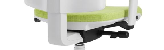 Scaun ergonomic confortabil si relaxant-PURE WHITE T-Mecanism sincron