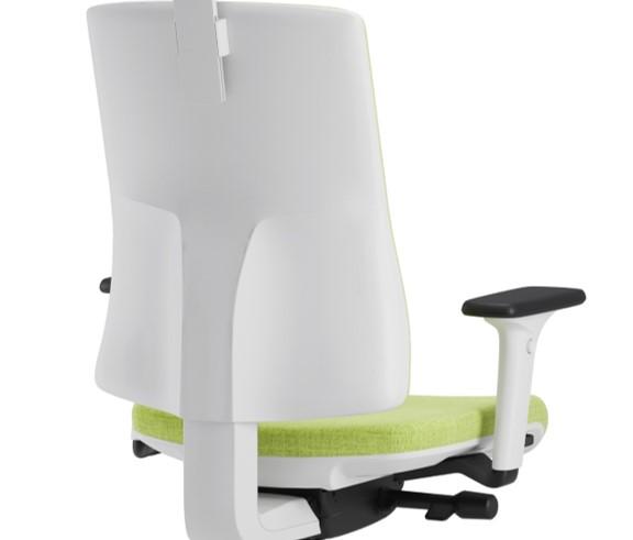 Scaun ergonomic confortabil si relaxant-PURE WHITE T-Suport lombar fix
