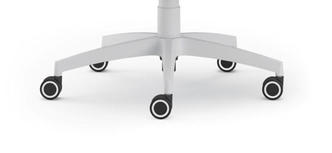 Scaun ergonomic confortabil si relaxant-PURE WHITE T-baza stea