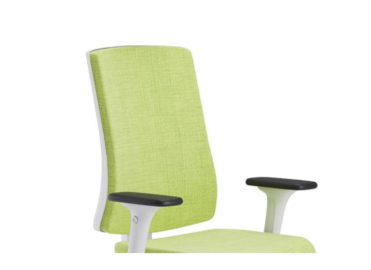 Scaun ergonomic confortabil si relaxant-PURE WHITE T-Spătar tapițat