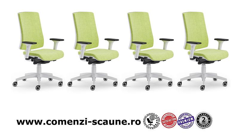 Scaun ergonomic confortabil si relaxant-PURE WHITE T-1