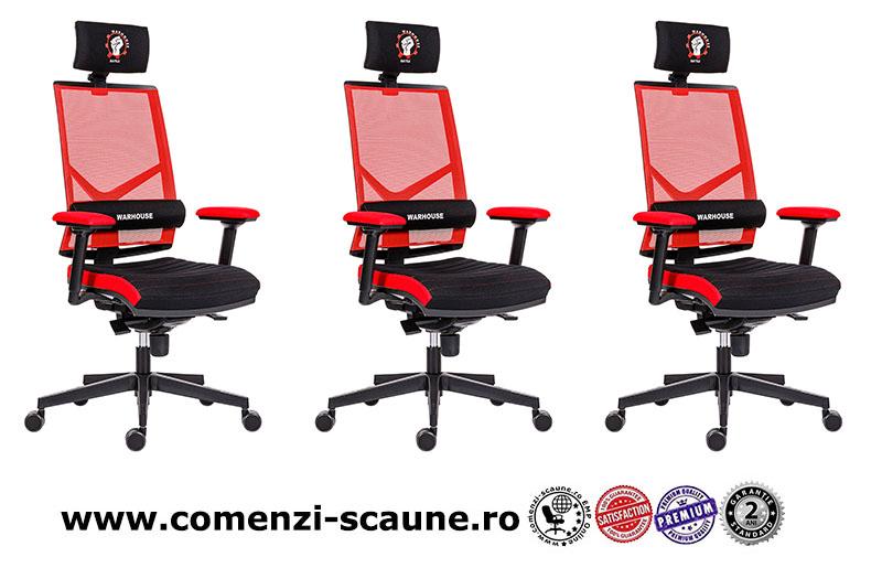 Scaune de gaming și birou confortabile design inovator-Battle Red-2