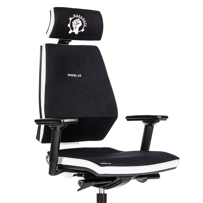 Scaun de gaming si birou tip manager rezistente si confortabile-Model 42 Black and White-1