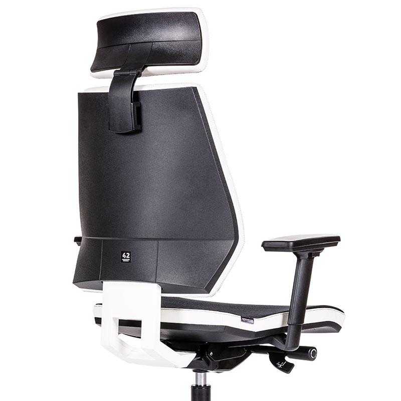 Scaun de gaming si birou tip manager rezistente si confortabile-Model 42 Black and White-2