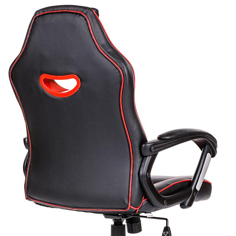 Scaun de gaming și birou confortabil din piele-Raptor Black and Red-2