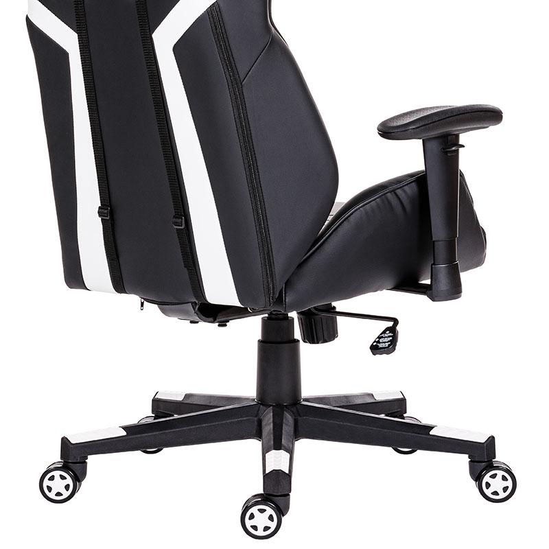 Scaune de gaming și birou elegante și robuste din piele-Venom Black and White-2