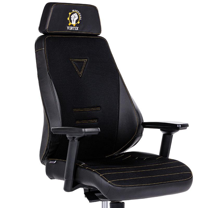 Scaune de gaming și birou construcție robustă-Vertex Black-1