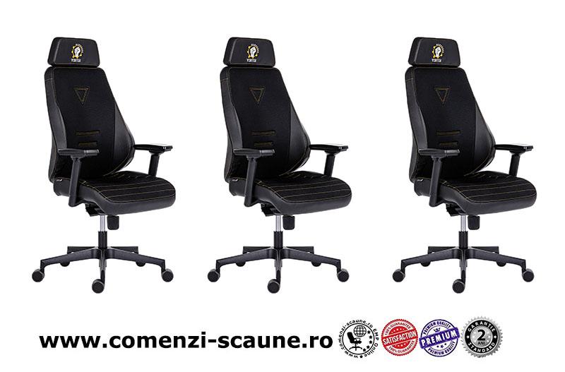 Dimensiuni scaun de gaming cu design modern pe culoarea negru cu verde-305