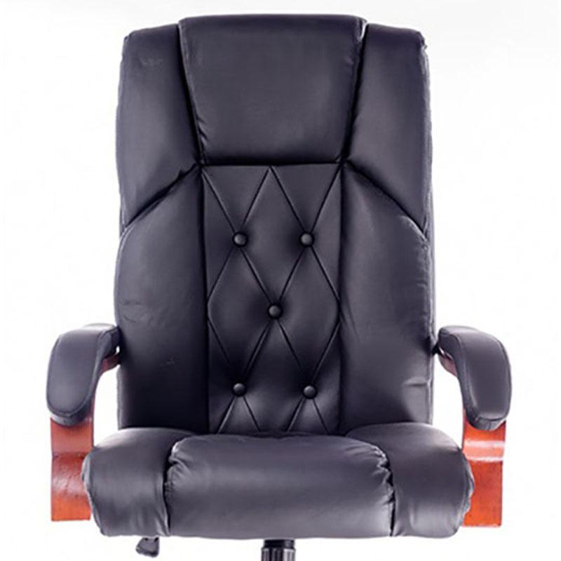 Scaun directorial rezistent fabricat din lemn si otel-culoarea negru-7610