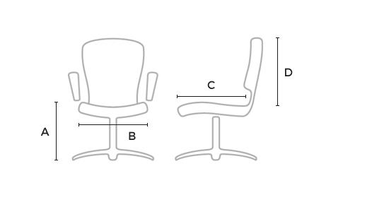 Dimensiuni Scaun pentru elevi cromat