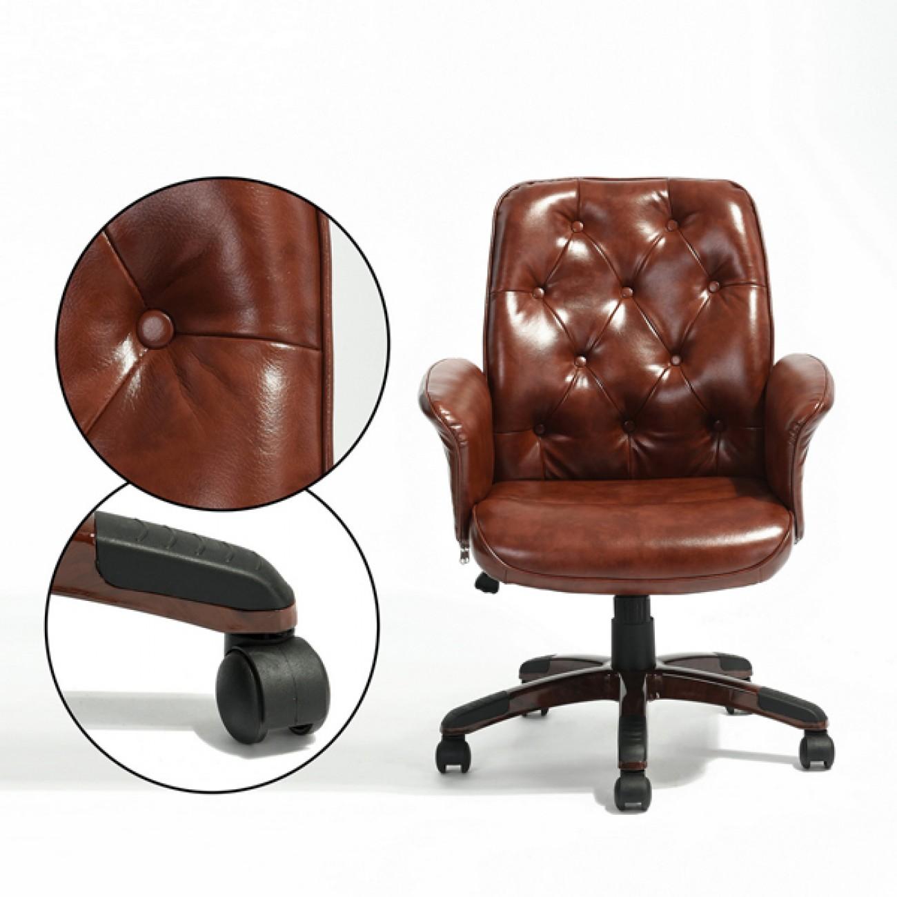 Scaun-retro-pentru-birou-maro