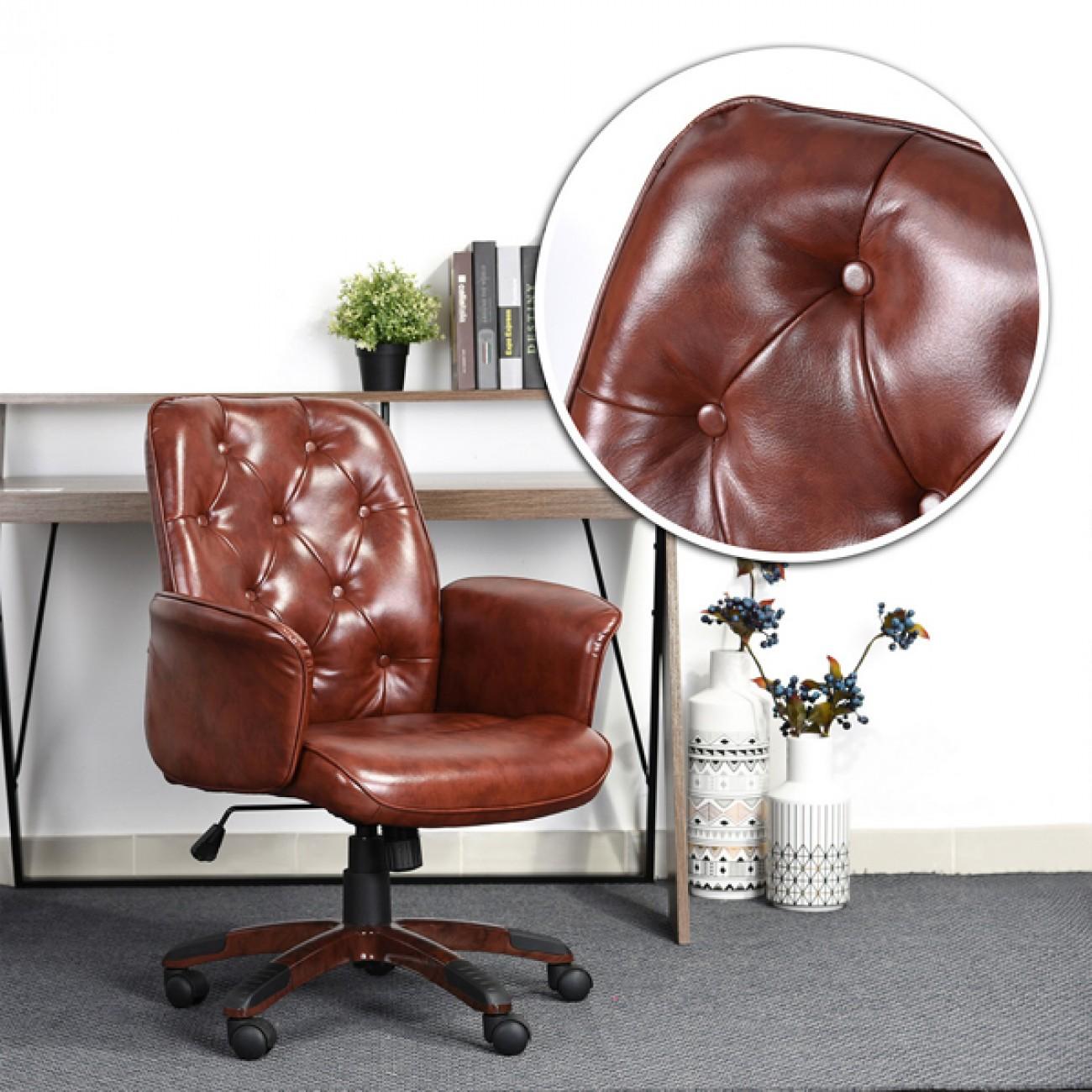 Scaun-retro-pentru-birou-blog-maro