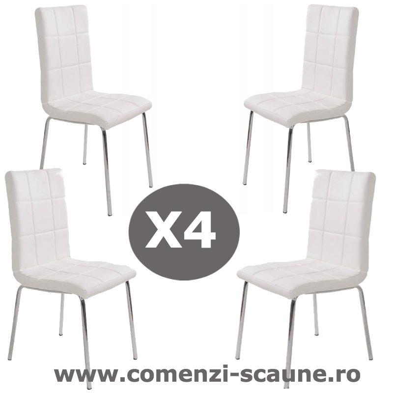 Set-4-scaune-bucatarie-4-alb