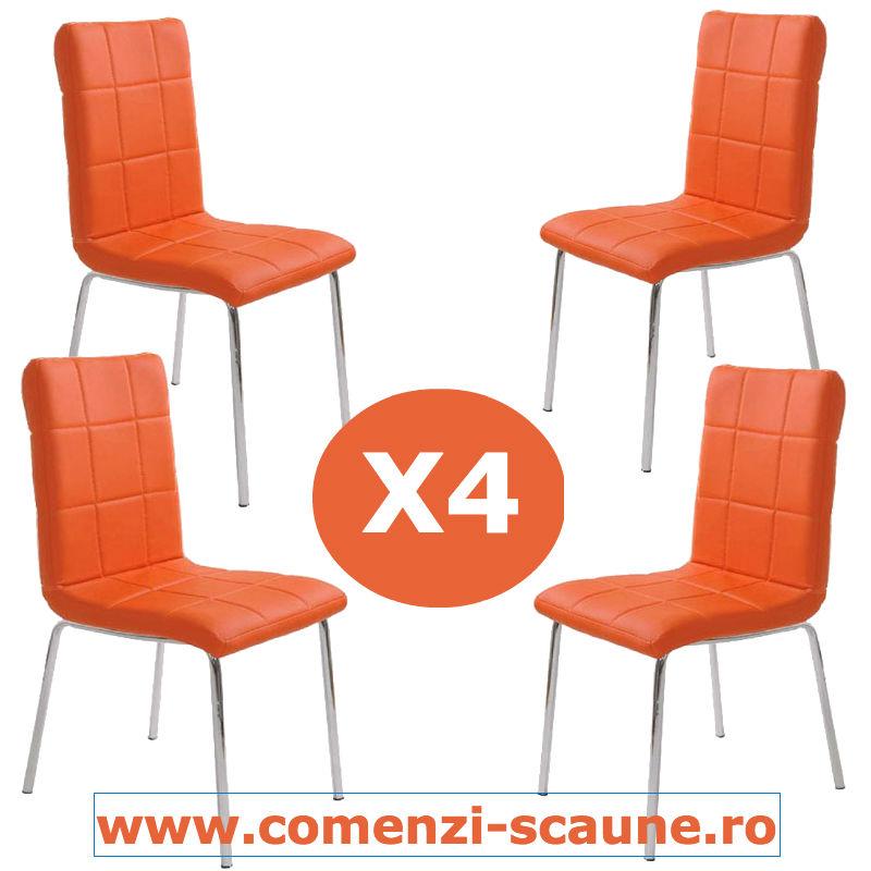 Set-4-scaune-bucatarie-4-portocaliu