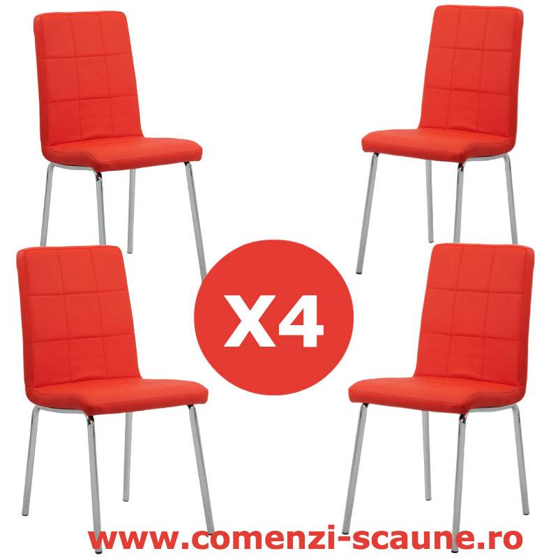 Set-4-scaune-bucatarie-colors-rosu