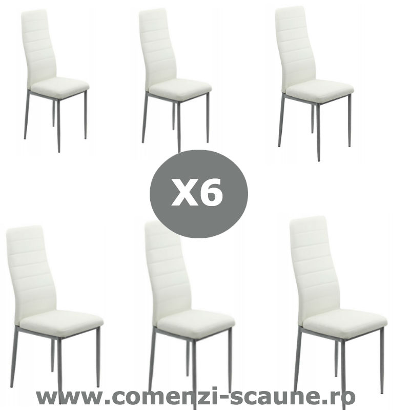 Set-6-scaune-bucatarie-alb