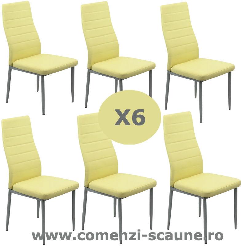 Set-6-scaune-bucatarie-bej