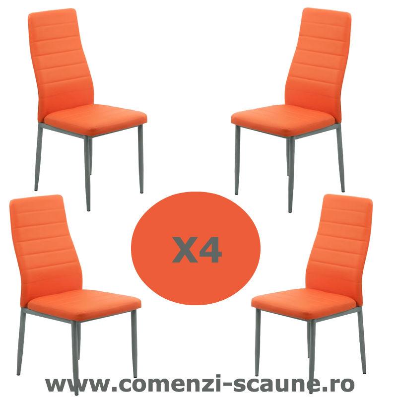 Set-4-scaune-bucatarie-portocaliu
