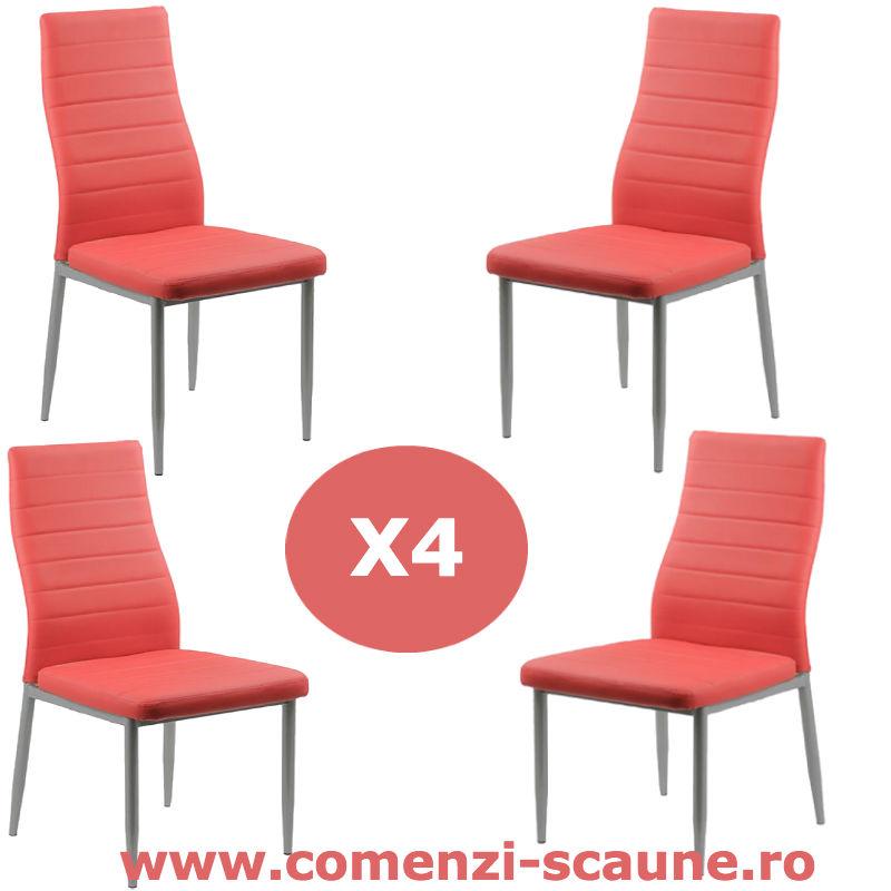 Set-4-scaune-bucatarie-rosu-comenzi-scaune