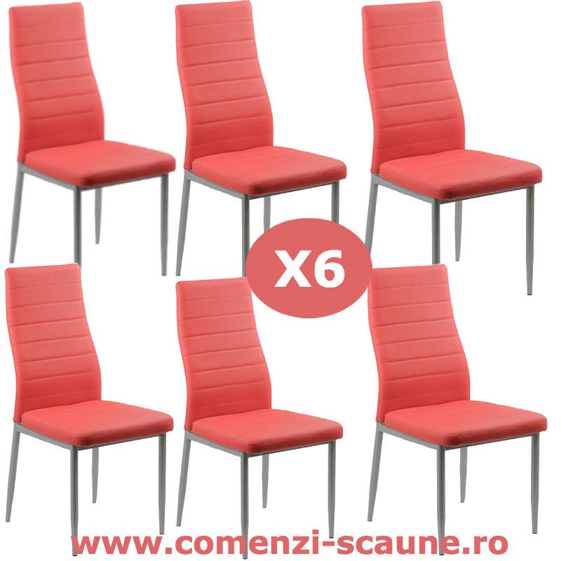 Set-6-scaune-bucatarie-rosu